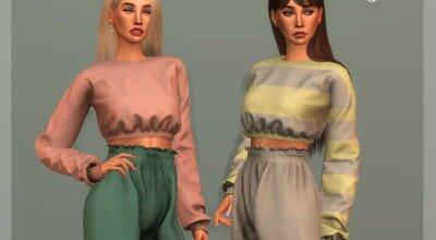 Короткий свитер TP375