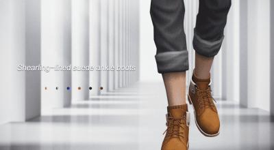 Мужские замшевые ботинки Jius