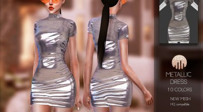 Металлик платье BD157