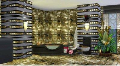 Набор золотой плитки Goldi Tile