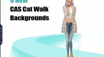 Набор CAS фонов - Cat walk