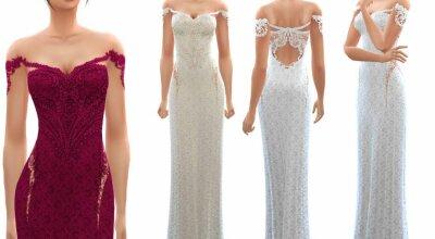 Кружевное платье Lace Gown