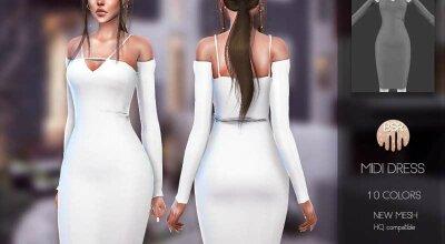 Миди платье BD155