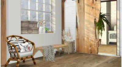 Деревянный декоративный сет