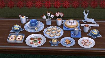 Сет из 15 декоративных предметов на новогоднюю тематику