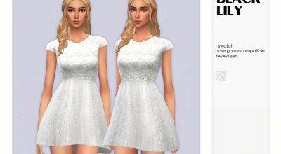 Платье White Lace Top