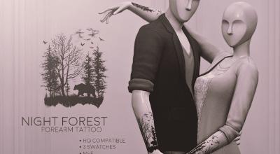 Тату Night Forest