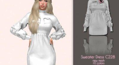 Свитер-платье C228