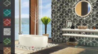 Стена Diamond Tile