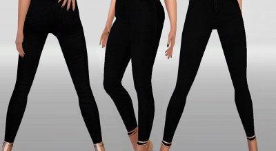Узкие черные джинсы