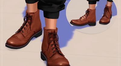 Кожаные ботинки Brogue