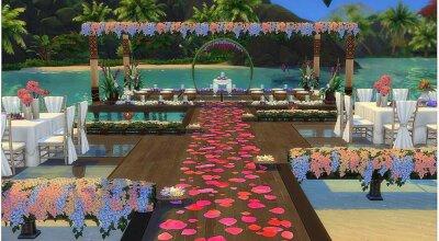 Свадебная площадка на пляжу