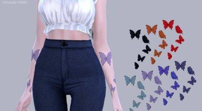 Татуировка Butterflies