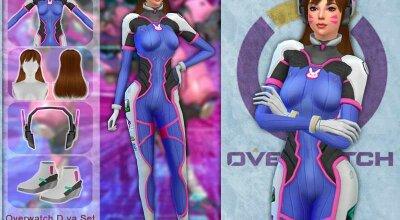Сет одежды D.VA из Overwatch