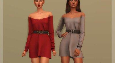 Платье с ремешком DR354