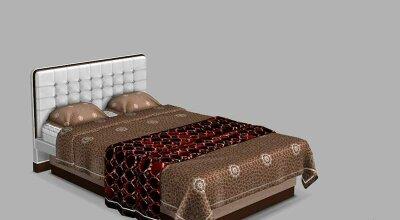 Романтическая двуспальная кровать