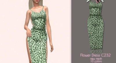 Платье Flower C232