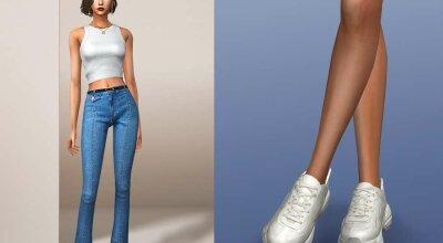 Белые кожаные кросы