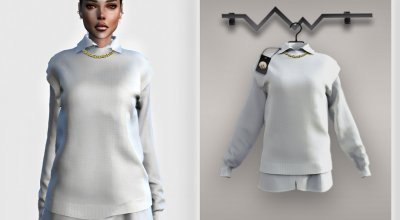 Рубашка с кофтой Knit Vest