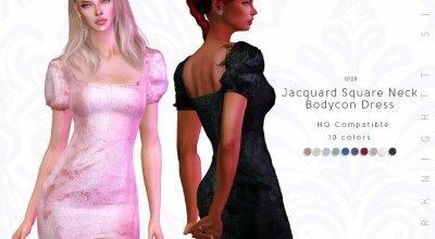 Платье Jacquard Square
