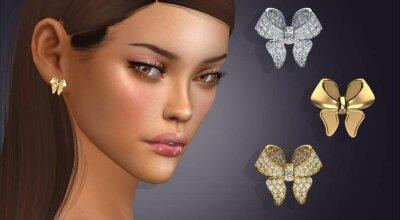 Серьги Diamond Pave Bow