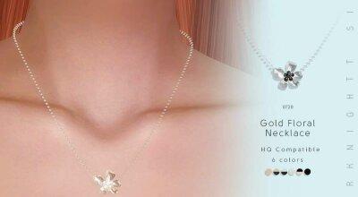 Ожерелье Gold Floral