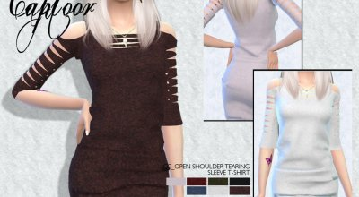 Платье с открытыми плечами by carvin captoor