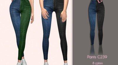Разноцветные джинсы C239