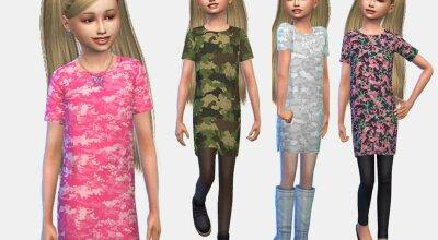 Детское платье Junior Camo