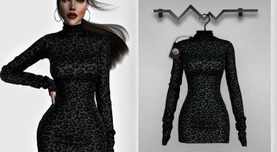 Леопардовое платье BD347