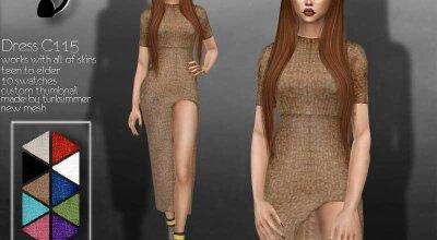 Платье C115