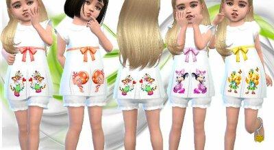 Белое детское платье