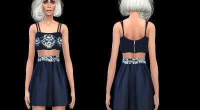 Мистическое голубое платье