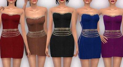 Платье с цепочками