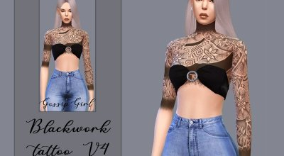 Татуировка Blackwork