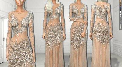 Вечернее платье Nude prom
