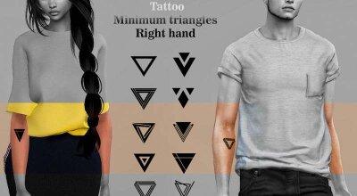 Треугольные татуировки