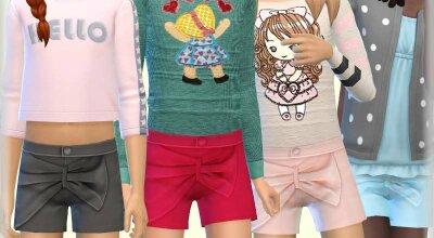 Короткие шорты для детей
