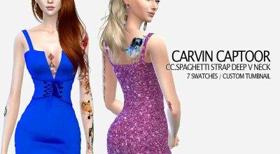Элегантное платье с глубоким вырезом