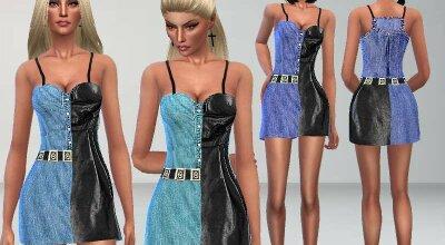Платье Leather and Denim