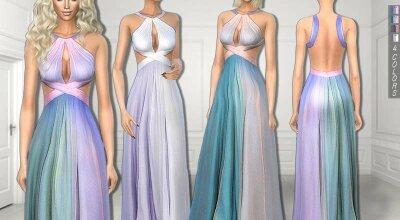Яркое вечернее платье