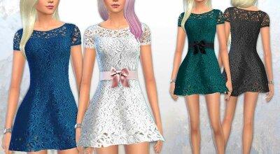 Кружевное жасминовое платье