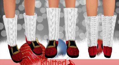Рождественские вязаные ботинки