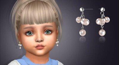 Серьги для малышей Pearl Currant