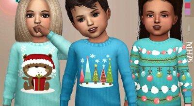 Зимний детский свитер