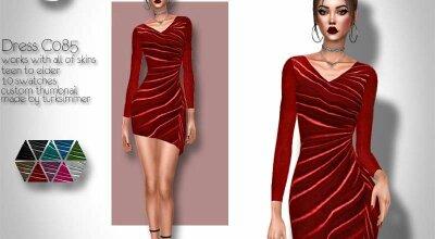 Платье C085