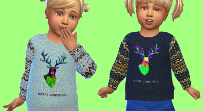Новогодний свитер для малышей