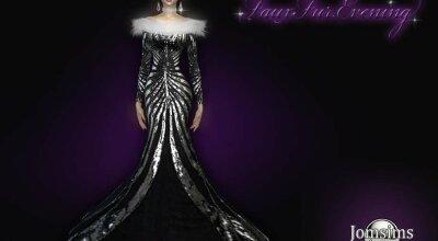Вечернее платье Fauxfur