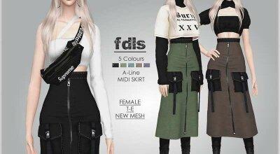 Высокая юбка fdls