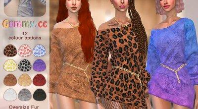 Платье Leopard Fur
